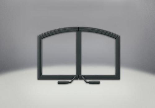 Napoleon H336-K Arched Cast Iron Double Doors - Black