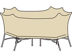 Treasure Garden X-Large Oval/Rectangle Table & Chairs w/8 ties (no center hole) - Protective Furniture Covers by Treasure Garden