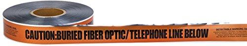 - Mutual 17774 Polyethylene Underground Tele/Fiberoptic Detectable Marking Tape, 1000' Length x 6