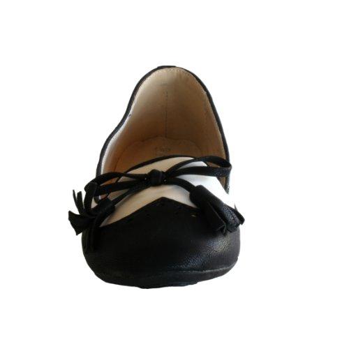"Waooh - Mode - Ballerines bicolores ""Enza Nucci"" BD7008 - Noir et blanc"