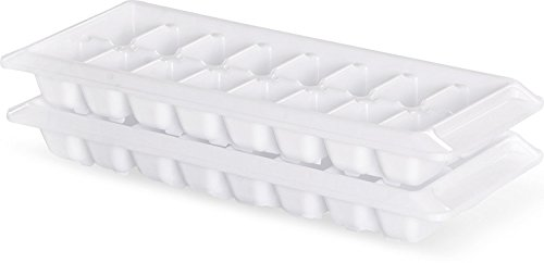 Plastic Ice Cube Tray - Made From Food Grade HDPE Plastic - Stackable Design - By Utopia Home (2) (Ice Tray Plastic Cube)
