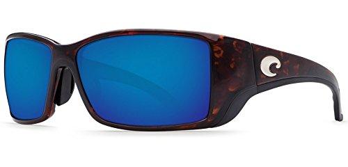 Costa Del Mar Blackfin Sunglasses, Tortoise, Blue Mirror 580 Plastic Lens