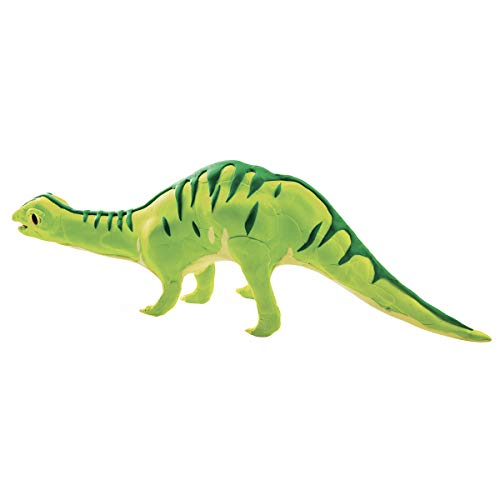 ROBOTIME Creative DIY Modeling Clay with DIY Wooden Brontosaurus Dinosaur Skeleton Soft Moulding Craft Clay Set Great Gift for Kids