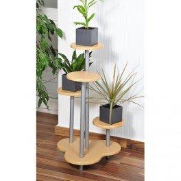 Etagère porte plante 4 niveaux façon Hêtre: Amazon.fr: Cuisine