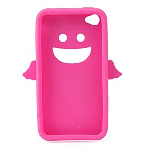Angel Protective Silica Gel Case for iPhone4 - Rose Red