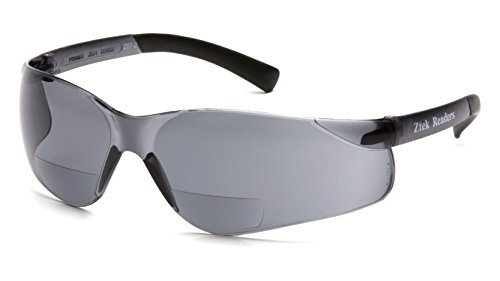 Pyramex S2520R25 Ztek Readers Safety Glasses, 2.5 Lens, Gray