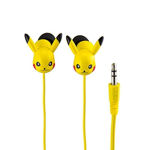 Pokemon Pikachu Molded Earbuds Sound Comfortable Secure Fit