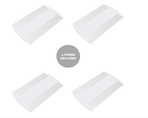Head Lice Comb and Nit Combs for Kids, Adults, Pets - 4 Pack (Lice Pubic)