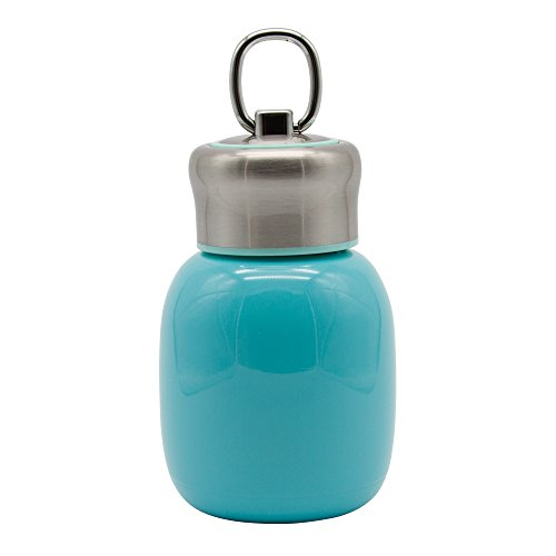 Mini Water Bottle, SENAINS 6.8oz Vacuum Insulated 18/8 Stainless Steel Narrow Mouth Water Bottle-Perfect for Kids, Ladies, Small Size (Blue)