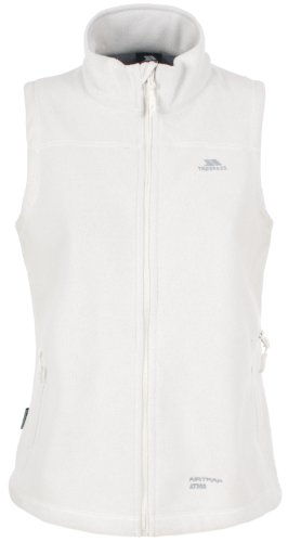 Trespass Focussed Gilet Blanc - Chaleco para mujer, color blanco, talla M
