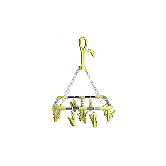 Offspring Square Shape Baby Clothes Hanger 14 Clips - Green