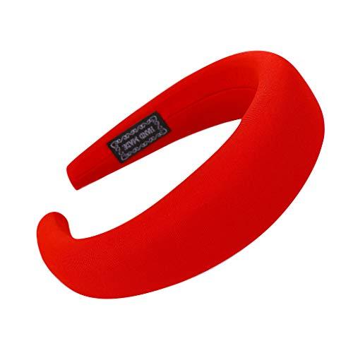UROSA Fashion Sponge Hairband Women Hair Head Hoop Simple Sweet Girls Hair Headband Red -