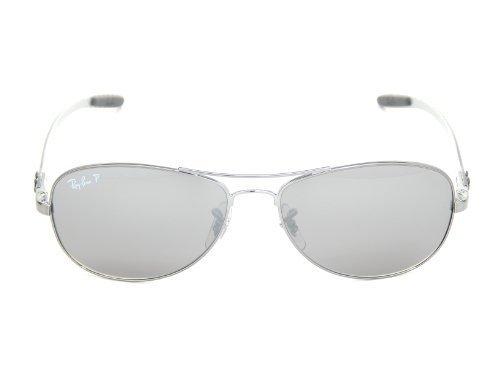 New Ray Ban RB8301 004/N8 Tech Matte Gunmetal/Gray Polarized Mirror 59mm - Polarized Ban Ray Aviator Tech