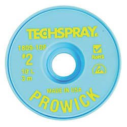 Techspray 1809-10F DESOLDERING BRAID 3m WIDE 10 ' L PRO WICK