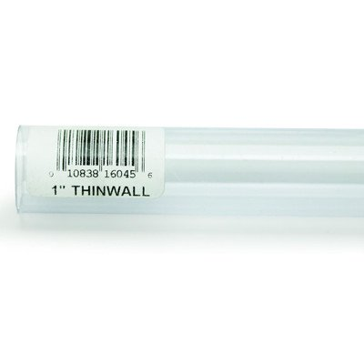 "Lees Aquarium & Pet Thinwall Rigid Tubing [Set of 4] Size: 1"" W x 36"" D"
