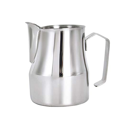 Frothing Pitcher Lengthen Mouth Handheld Milk Frothing Pitcher, 18/10 Stainless Steel 20oz/600ml Streamlined Milk Steaming Frothing Pitcher Body Suitable for Coffee, Latte Art And Frothing Milk Perfect for Espresso Machines by HENGRUI (Image #7)