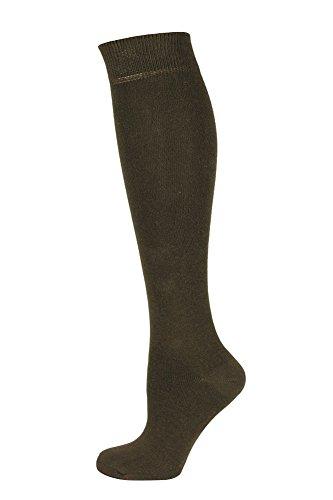 Mysocks Unisex Knee High Long Socks Plain Brown