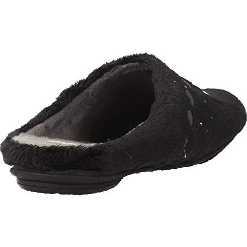 Mujer VULLADI de Zapatillas Zapatillas Modelo por Estar Color VULLADI 123 De por Estar casa Negro Mujer De Negro Marca de Casa 2641 qTUWTfdw