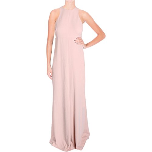 (Vera Wang Women's Sleeveless Gown with Cutout Back, Pink Champagne, 14)