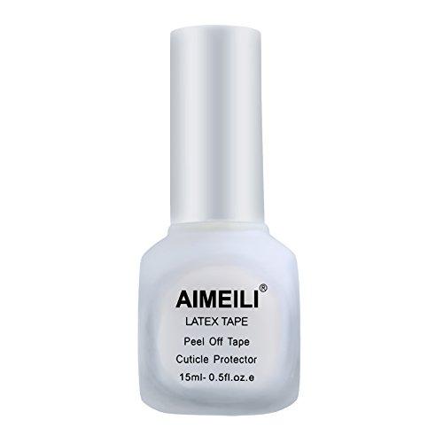 AIMEILI Liquid Latex Peel Off Tape Odorless Cuticle Guard Polish Barrier Skin Protector for Nail Art 15 ML 0.5 Fl Oz
