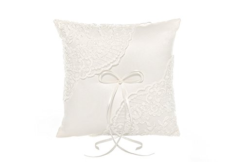 AISLE STYLE Floral Lace Pattern Wedding Ring Bearer Pillow Rustic