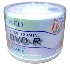 600 Princo 16X DVD-R 4.7GB White Inkjet
