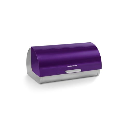 morphy richards accents roll top bread bin purple new. Black Bedroom Furniture Sets. Home Design Ideas