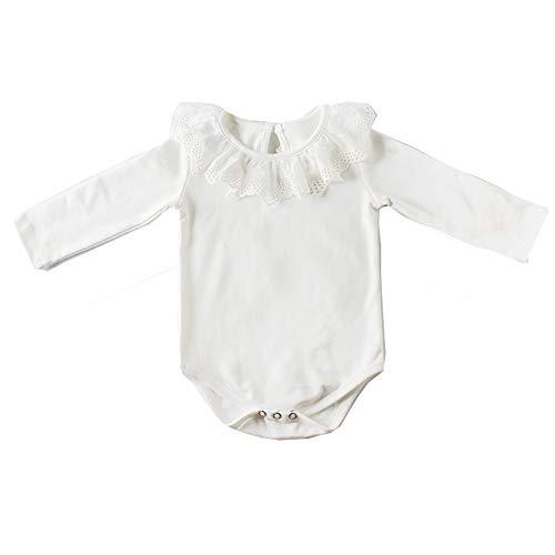 Askwind Baby Girls Knit Striped Polka Dot Romper Cute Strap Sleeveless Jumpsuit Bodysuit (White, 0-6 Months)