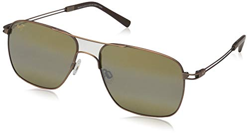 Maui Jim Haliewa H328-18 | Polarized Copper Aviator Frame Sunglasses, HCL Bronze Lenses, with Patented PolarizedPlus2 Lens Technology