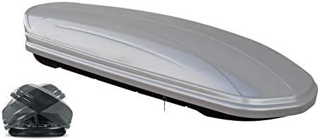 VDP Dachbox MAA 580 Liter Duo Silber + Relingträger Quick Stahl L kompatibel mit Ford Galaxy ab 2015