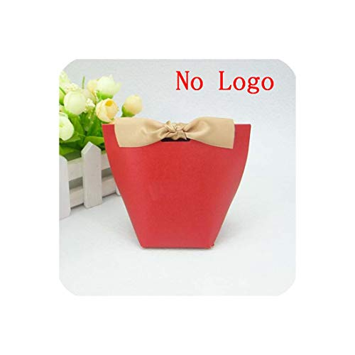 Wedding Gift Boxes Paper Cake Box Baby Shower Favor Boxes Candy Box with Ribbon,Red Blank,50Pcs