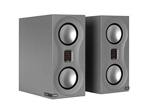 Monitor Audio Studio Standmount Bookshelf Speaker - Pair - Satin Grey ()