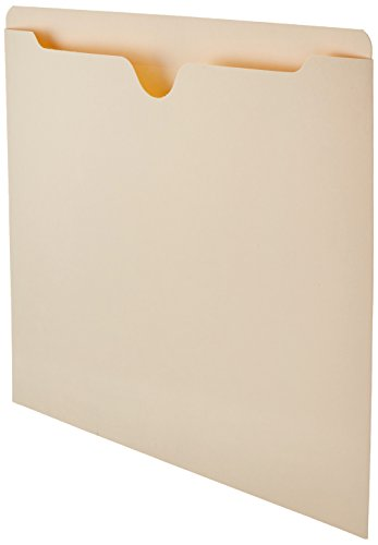 (AmazonBasics File Jacket, Reinforced Straight-Cut Tab, Flat-No Expansion, Letter Size, Manila, 100-Pack)
