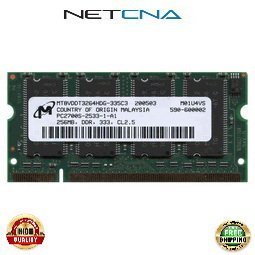 DC389B 256MB HP-Compaq Pavilion/Presario/Evo Laptop PC2700 DDR333 SODIMM 100% Compatible memory by NETCNA (Presario Ddr333 Memory)