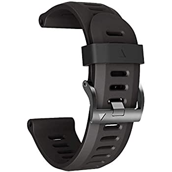 ANCOOL Compatible with Garmin Fenix 3 Bands 26mm Width Soft Silicone Replacement Watch Bands Replacement for Garmin Fenix 3 / Fenix 3hr / Fenix 5X / Fenix ...