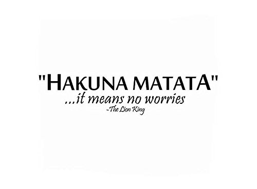 Cheap  Lchen Hakuna Matata Its Means No Worries The Lion King Wall Sticker..