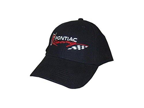 Hot Shirts - Men's Pontiac Racing Hat - Black: GTO Firebird Trans Am Solstice G5 G6 G8 Vibe Torrent Fiero LeMans Tempest Grand Prix Judge - Pontiac Racing