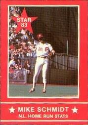 1983 Star Schmidt #12 Mike Schmidt/N.L. HR Stats Near (Mike Schmidt Stats)