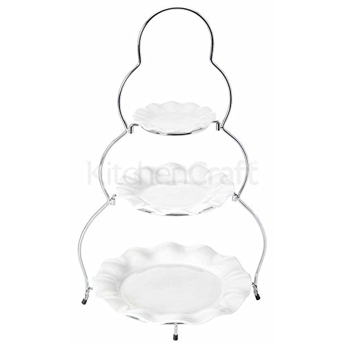 Sweetly Does It Three Tier Traditional Cake Stand Gift Boxed (Pack of 2)