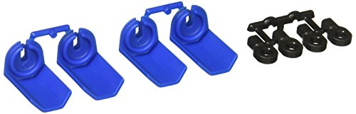 RPM Shock Shaft Guards for Traxxas and Durango 1/10 Scale Shocks, (Blue Shocks)