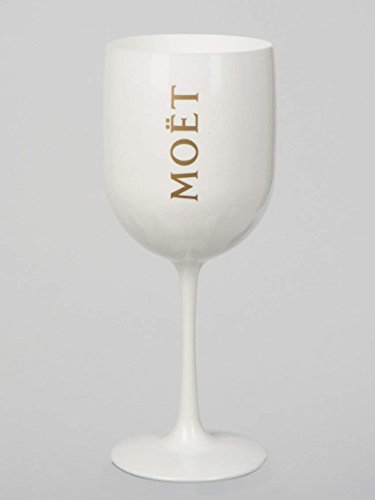 1 x New Moet Chandon Glass 2015 Ice Imperial White Acrylic Champagne Glas by -