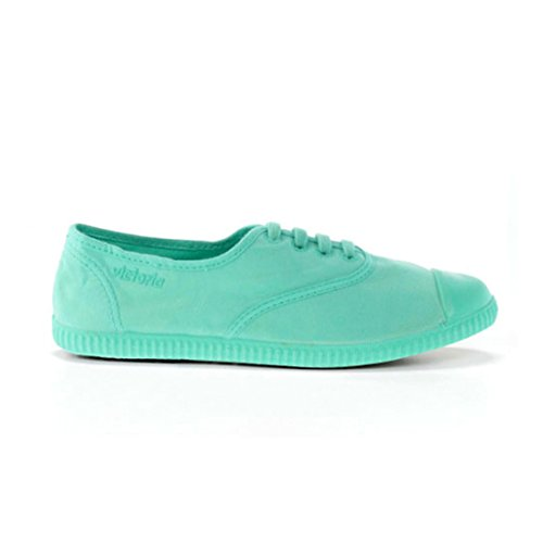Victoria Womens Inglesa Tintada Monocromo Low-top Lace Up Canvas Sneaker Moda Agua