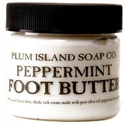 Plum Island Peppermint Foot Cream Butter made in New England