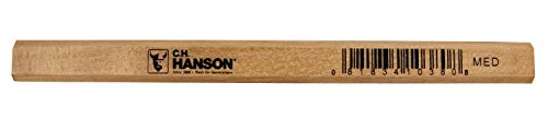 Economy Pencil - CH Hanson Economy Unfinished Medium Basswood Carpenter Pencils-72 Pack