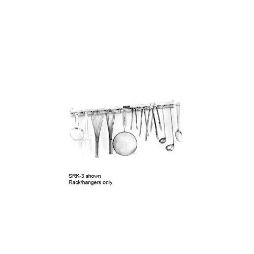 """H.A. Sparke SRK-4 Aluminum 48"""" Utensil Rack with 16 Hangers"""