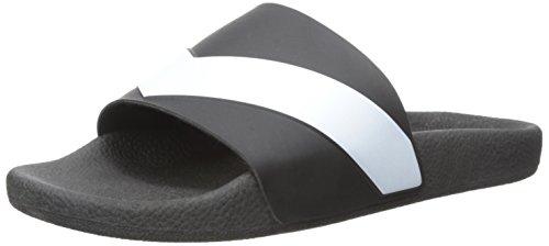 Diesel Men's A-Lohaa SA-Maral Slide Sandal, Black/White, 44 EU/10-10.5 M - Brands Top Designer Ten Mens
