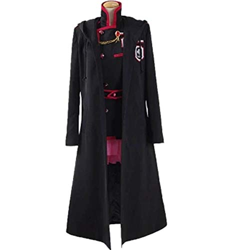 Anime D.Gray-Man Linali Lenalee Lee Allen Walker Cosplay Costume Black School Uniform Halloween (Male XL)]()