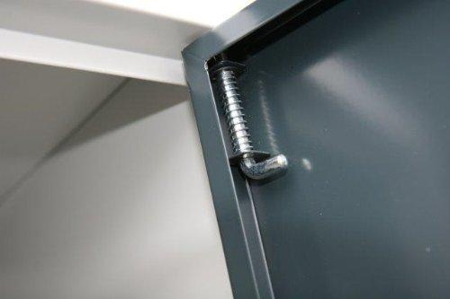 Lüllmann Spind Spint Spint Spint Stahl-Kleiderschränke Gaderobenschrank 2 türig 300mm 510128 kompl. montiert und verschweißt 5a1723