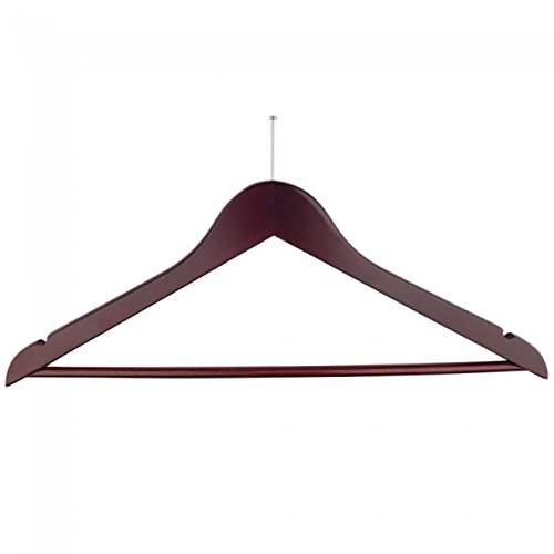 NAHANCO 60317BEC Wooden Suit Hanger, 17