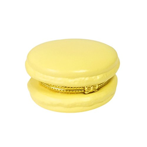 Ceramic Macaron Limoge Trinket Box (Orange/Yellow)